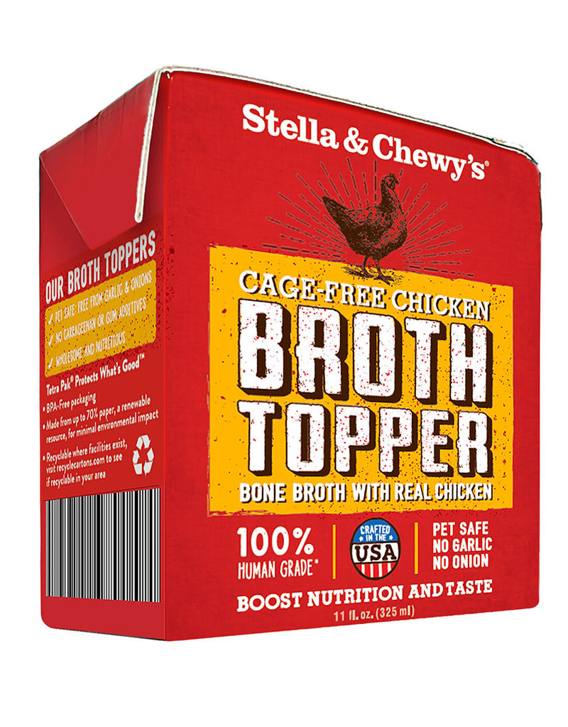 Stella & Chewys Stella & Chewy's Cage-Free Chicken Broth Topper Dog Can 11oz