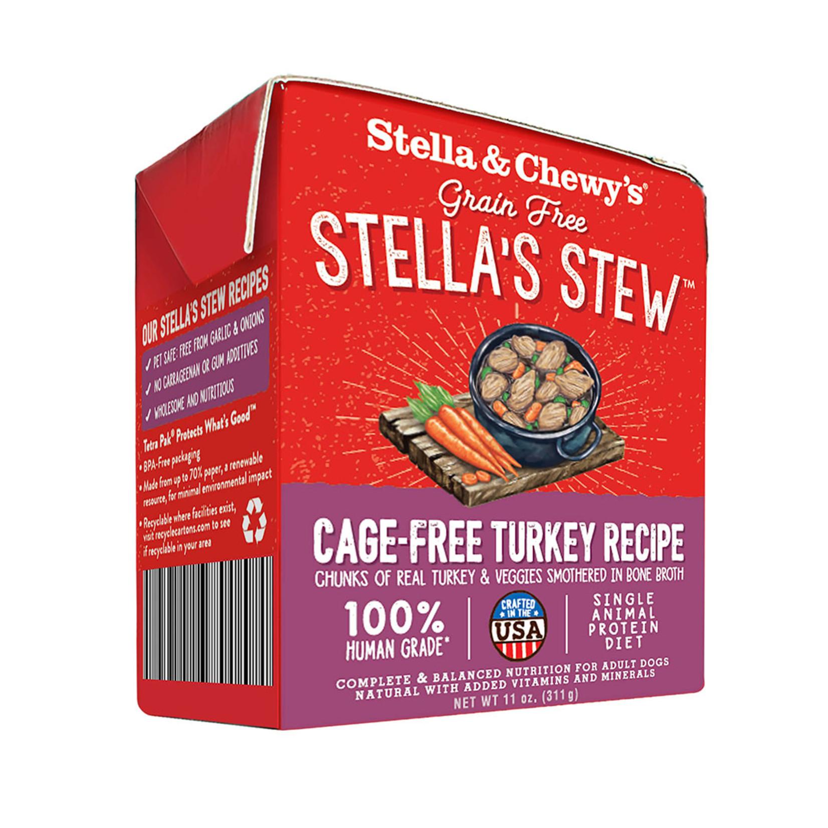 Stella & Chewys Stella & Chewy's Stew Cage-Free Turkey Canned Dog Food 11oz