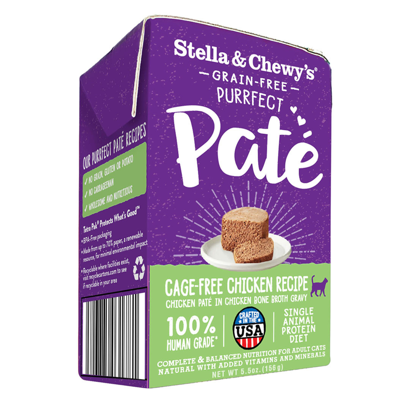 Stella & Chewys Stella & Chewy's Purrfect Pate Cage-Free Chicken Canned Cat Food 5.5oz  - FINAL SALE - No returns/exchanges
