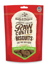 Stella & Chewys Stella & Chewy's Raw Coated Cage-Free Duck Biscuits Dog Treat 9oz