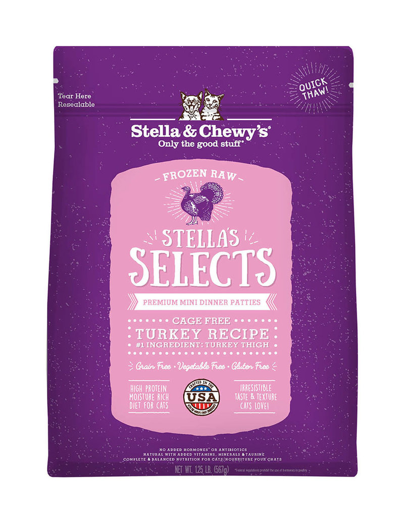 Stella & Chewys Stella & Chewy's Selects Frozen Raw Cage-Free Turkey Cat 1lb