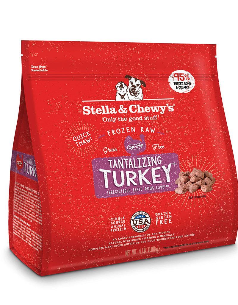 Stella & Chewys Stella & Chewy's Tantalizing Turkey Frozen Raw Morsels Dog Food 4lb