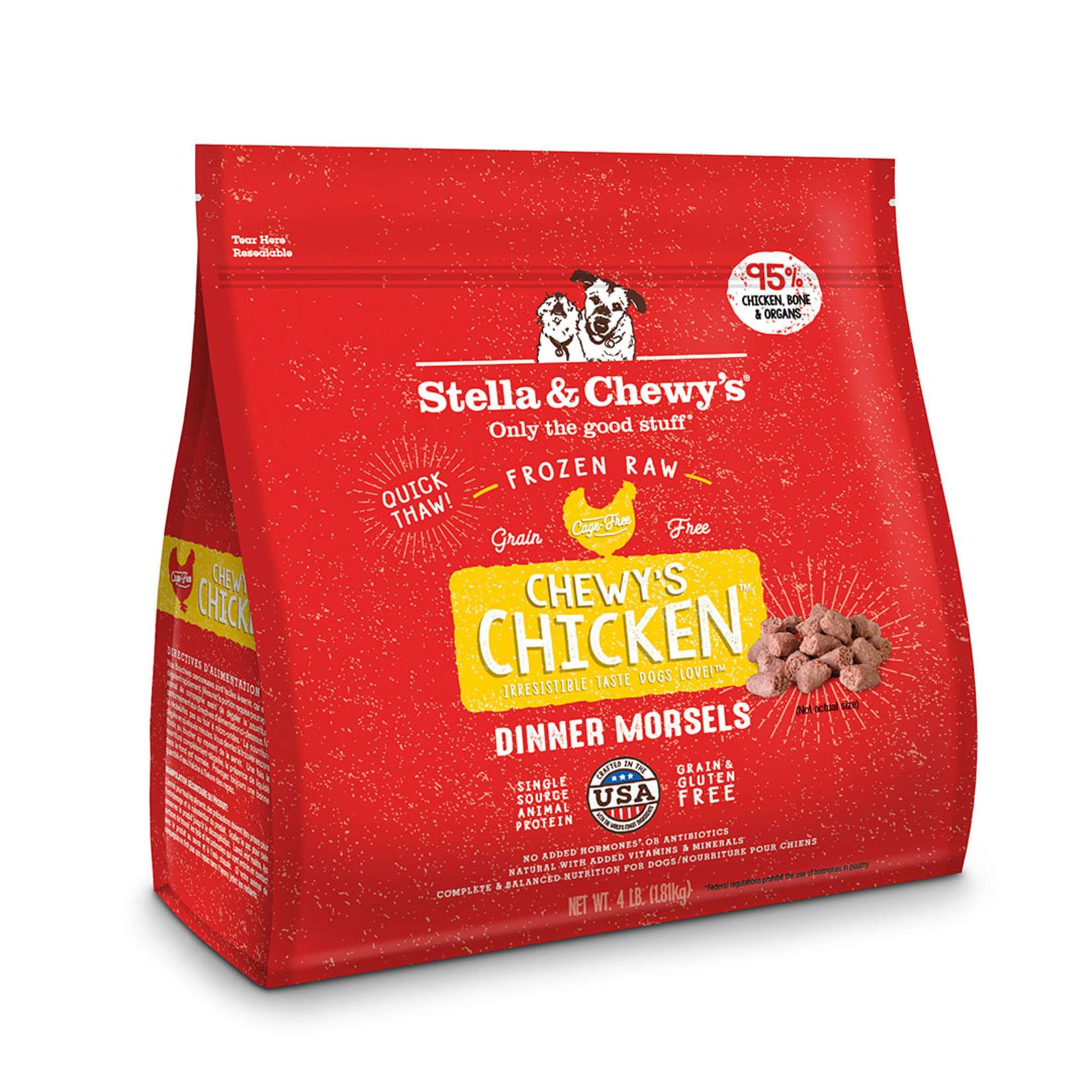 Stella & Chewys Stella & Chewy's Chicken Frozen Raw Morsels Dog Food 4lb