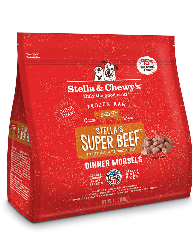 Stella & Chewys Stella & Chewy's Super Beef Frozen Raw Morsels Dog Food 4lb