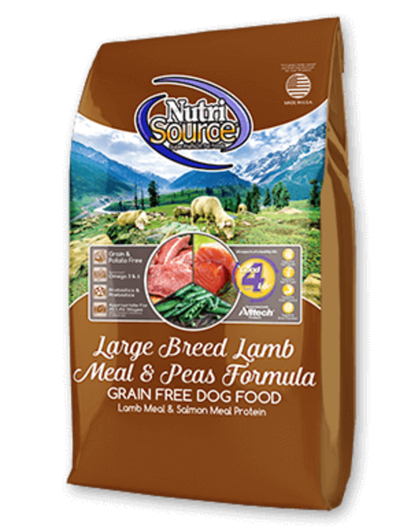 Nutrisource NutriSource Grain Free Large Breed Lamb Meal & Peas Dog Food