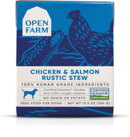 Open Farm Open Farm Chicken & Salmon Rustic Stew Canned DOG Food 12.5oz