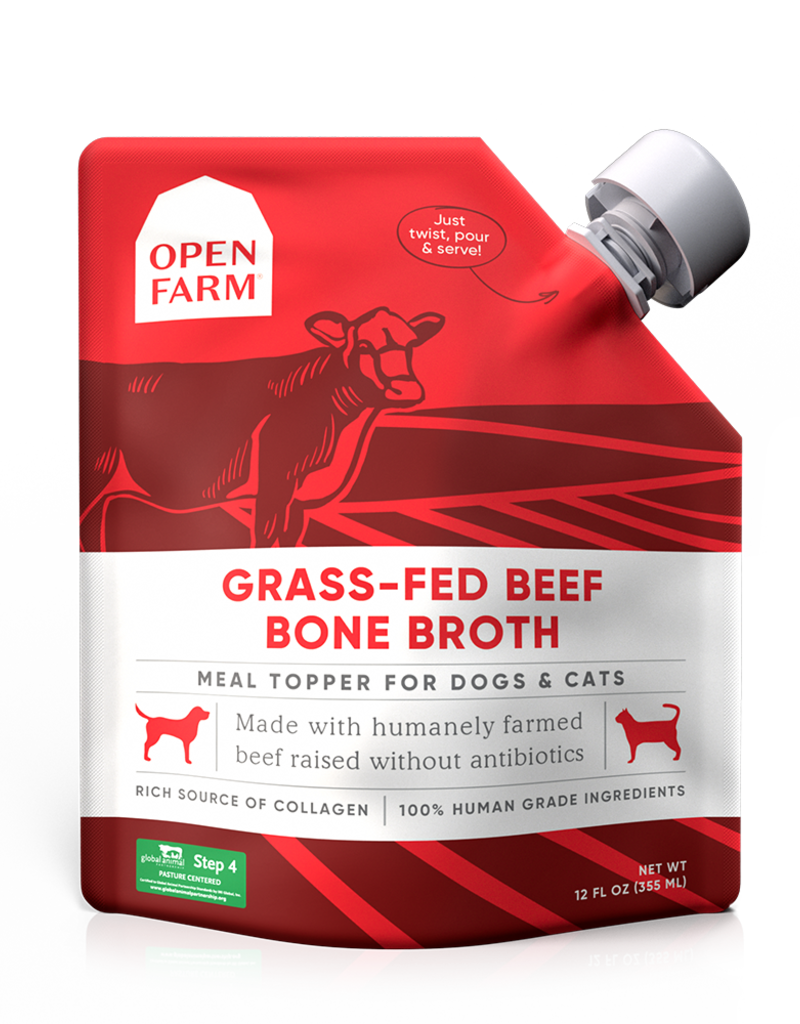 Open Farm Open Farm Grass-Fed Beef Bone Broth Dog 12oz