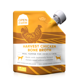 Open Farm Open Farm Harvest Chicken Bone Broth Dog 12oz
