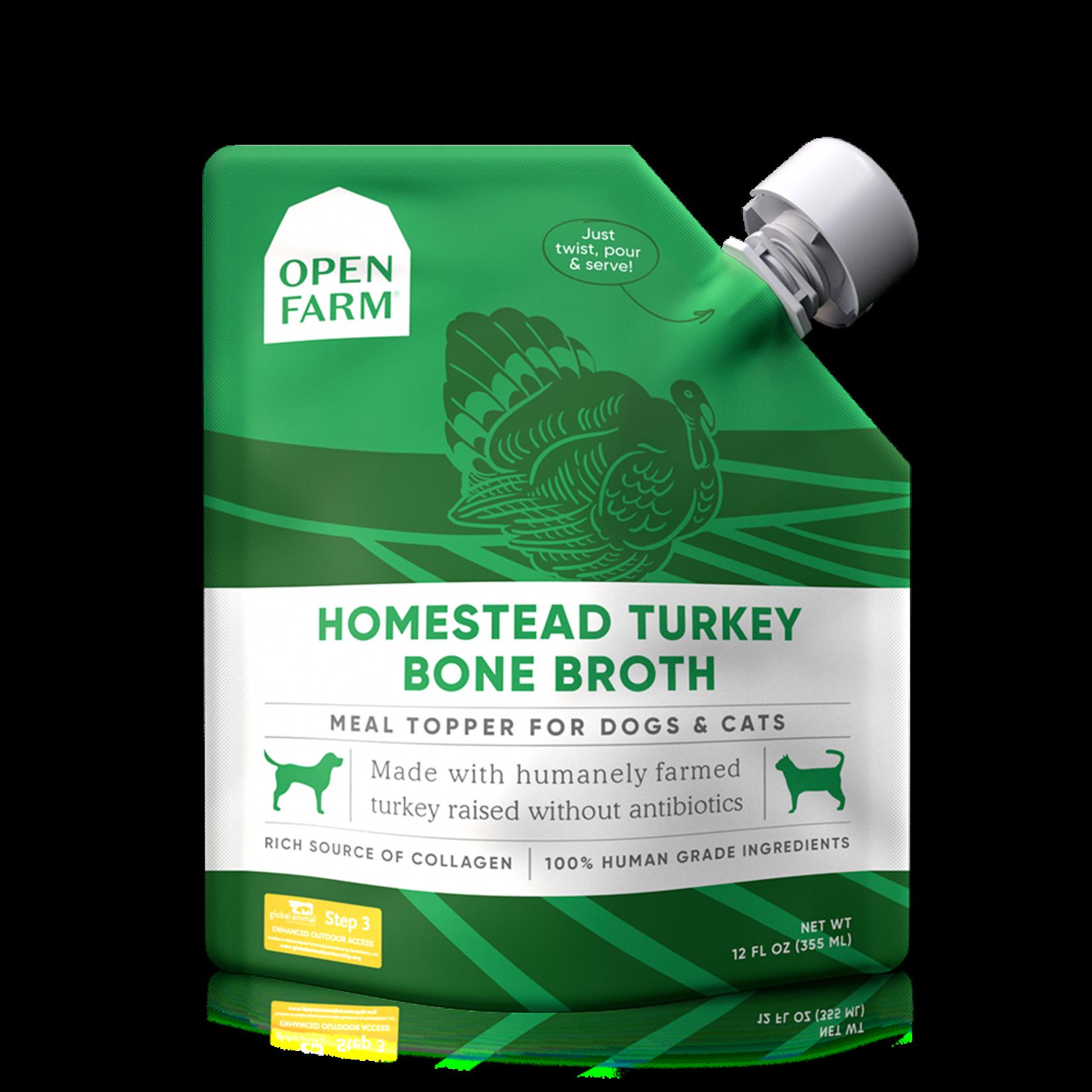 Open Farm Open Farm Homestead Turkey Bone Broth Dog 12oz