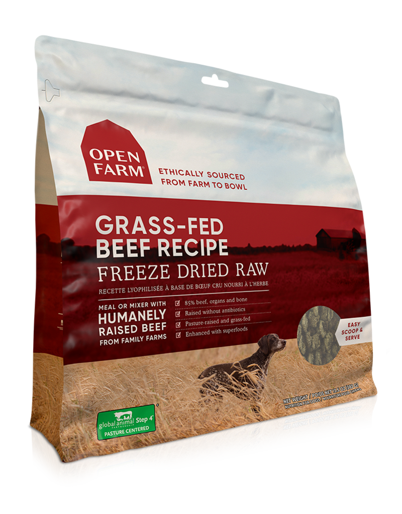 Open Farm Open Farm Freeze Dried Raw Grass-Fed Beef Dog Food 13.5oz
