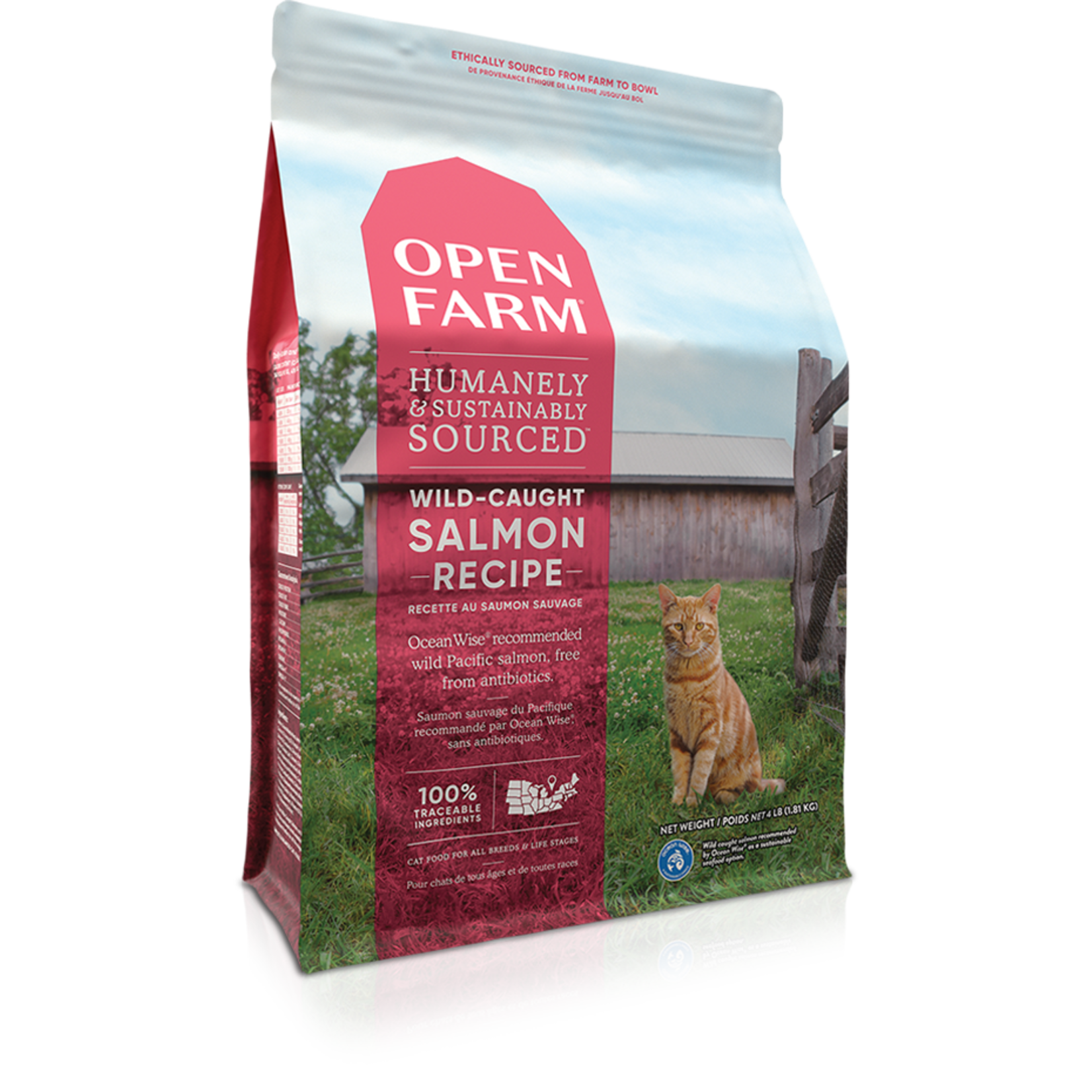 Open Farm Open Farm Wild-Caught Salmon Cat Food 4lb