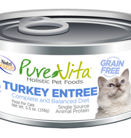 Pure Vita Pure Vita Turkey Entrée Cat Canned Food 5.5oz