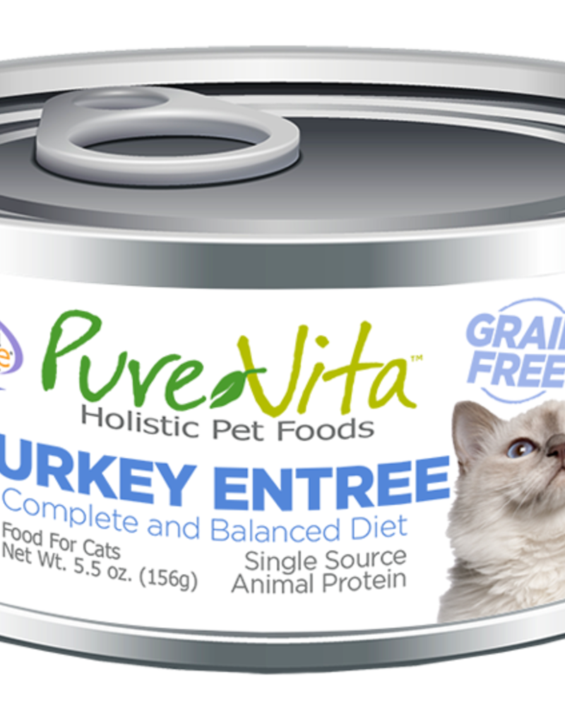Pure Vita Pure Vita Turkey Entrée Cat Canned Food 5.5oz