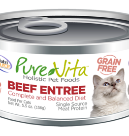 Pure Vita Pure Vita Beef Entrée Cat Canned Food 5.5oz