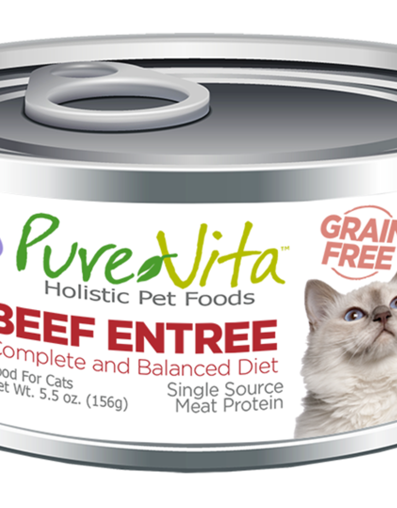 Pure Vita Pure Vita Beef Entrée Cat Canned Food 5.5oz