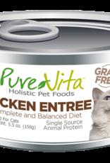 Pure Vita Pure Vita Chicken Entrée Cat Canned Food 5.5oz