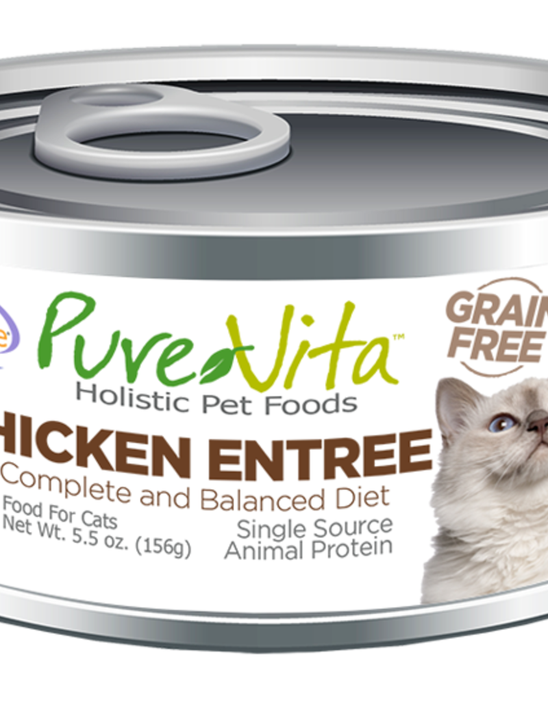 Pure Vita Pure Vita Chicken Entrée Cat Canned Food 5.5oz
