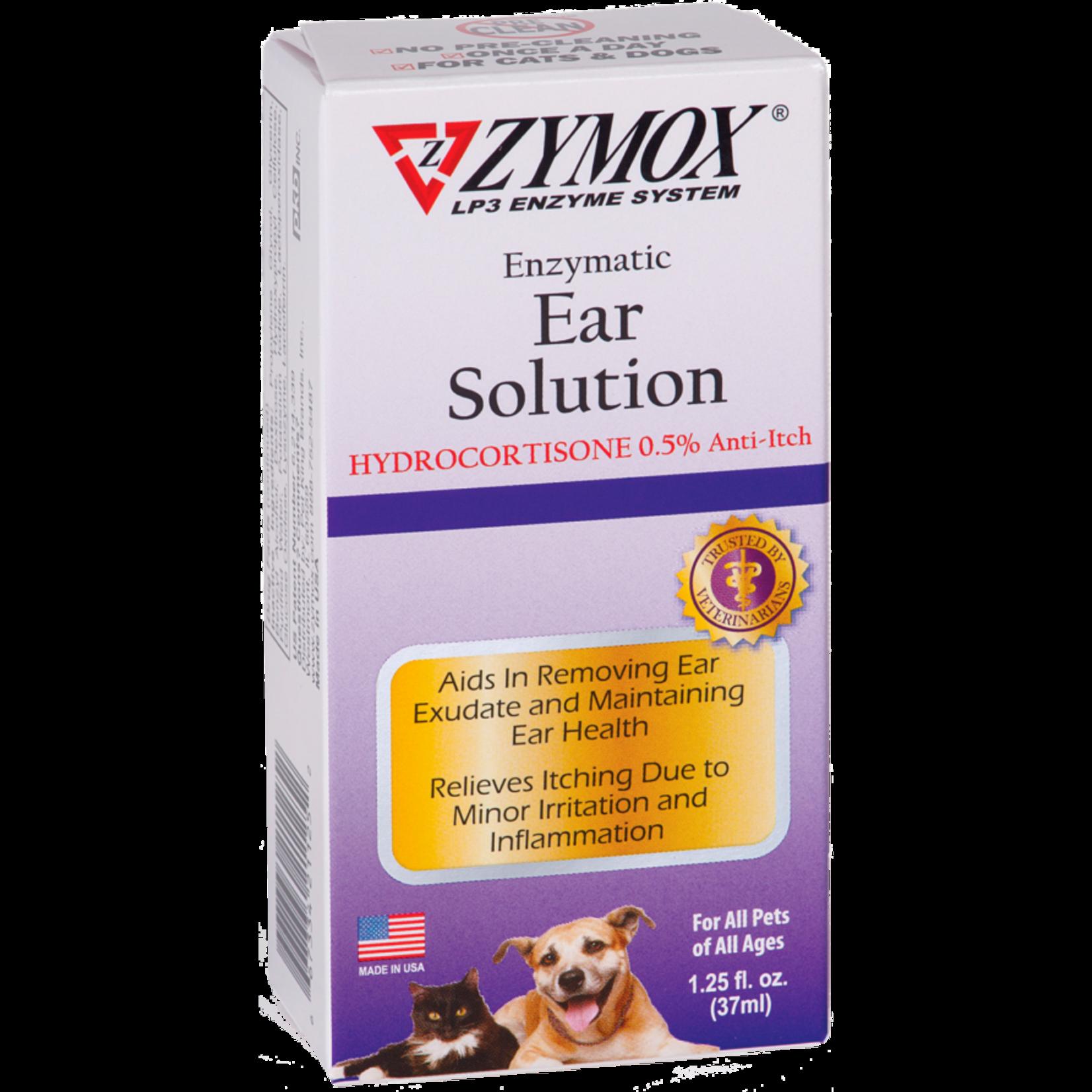 Zymox Zymox Ear Solution With 0.5% Hydrocortisone 1.25oz