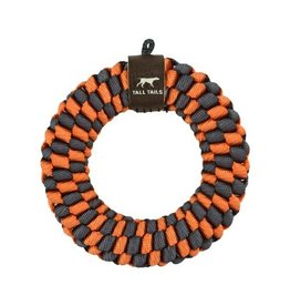 Tall Tails TALL TAILS Braided Ring Orange & Charcoal Dog 6""