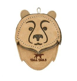 "Tall Tails TALL TAILS Natural Leather Bear 4"" Dog Toy"