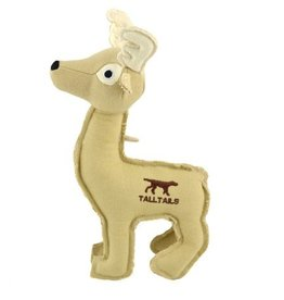 "Tall Tails TALL TAILS Canvas Deer with Squeaker 9"" Dog Toy"