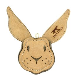 "Tall Tails TALL TAILS Natural Leather Rabbit 4"" Dog Toy"