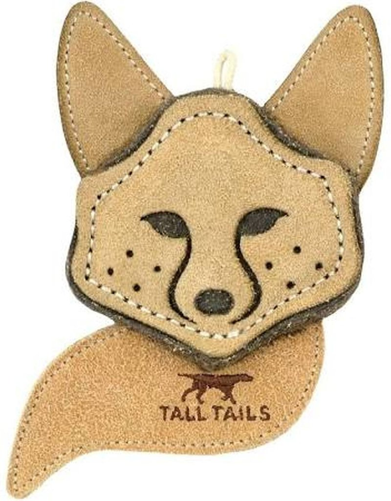 "Tall Tails TALL TAILS Natural Leather Fox 4"" Dog Toy"
