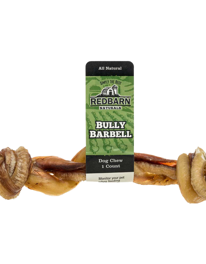 Red Barn REDBARN Long Bully Barbell Dog Chew