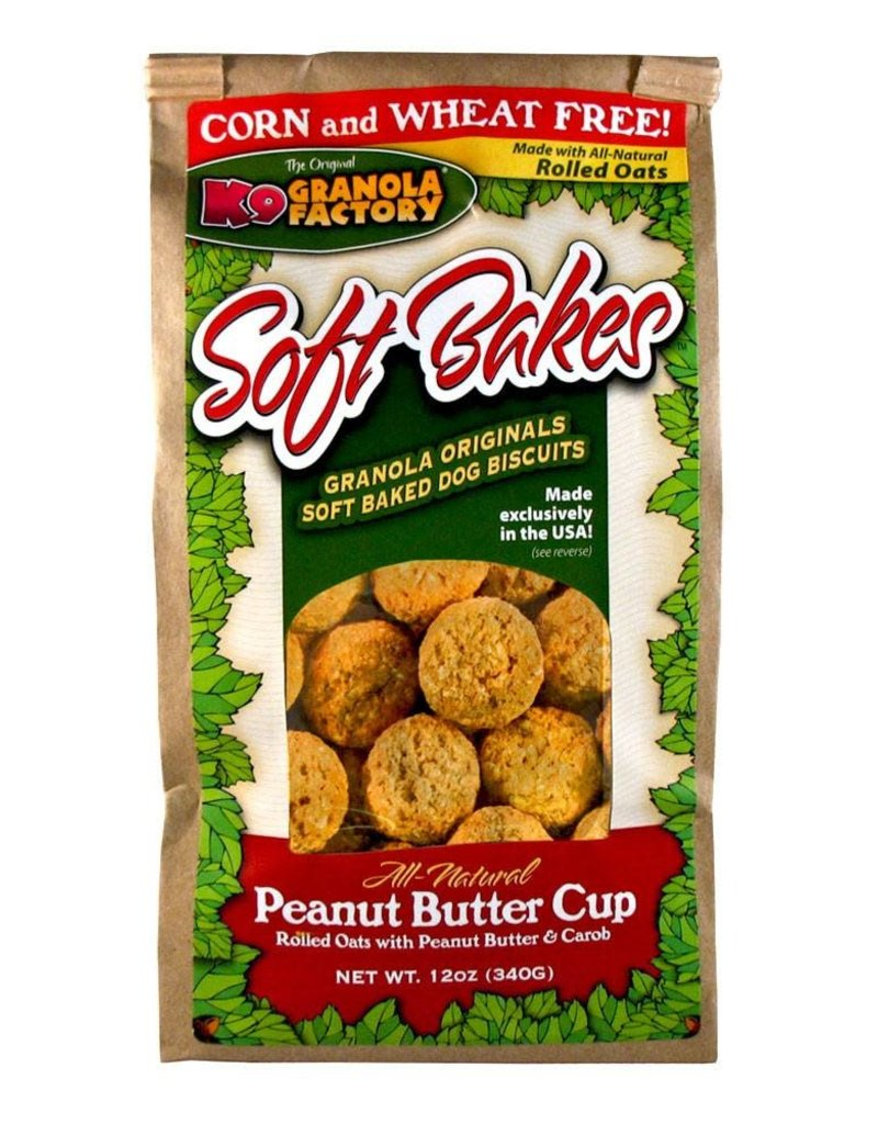 K9 Granola Factory K9 Granola Factory Soft Bakes Peanut Butter Cup Dog Treats 12oz