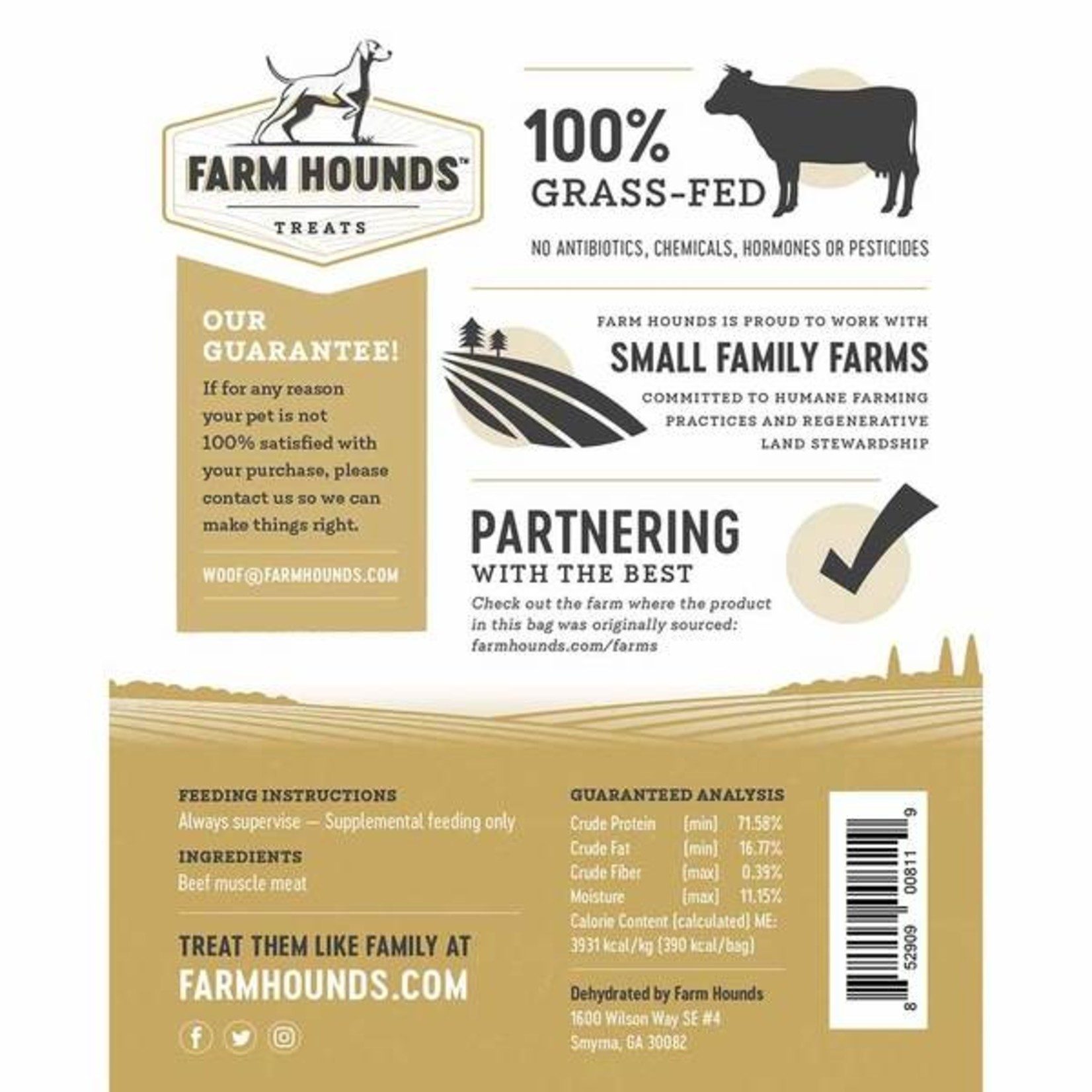 Farm Hounds FARM HOUNDS Beef Jerky Dog Treats 3.5oz