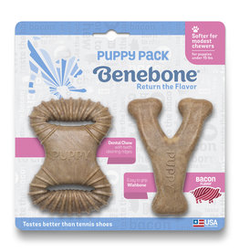 Benebone Benebone Bacon Flavor Puppy Pack 2 Chew Toys