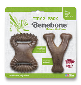 Benebone Benebone Tiny Bacon Flavored Dog Chew Toy 2-Pack