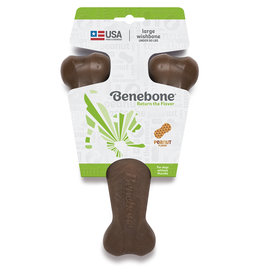 Benebone Benebone Peanut Butter  Wishbone Dog Chew Toy
