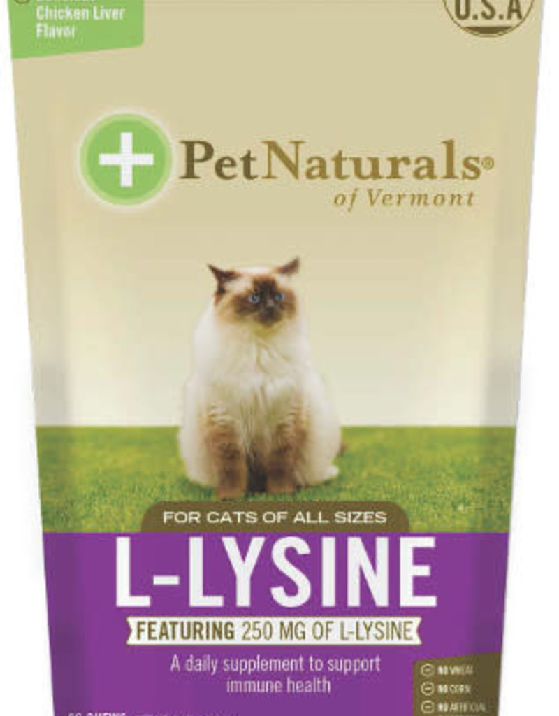 Pet Naturals of Vermont PetNaturals L-Lysine Cat Supplement Chews 60ct