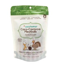 CocoTherapy CocoTherapy Coco-Carnivore Meatballs Turkey, Spinach, and Coconut Dog and Cat Treats 2.5oz