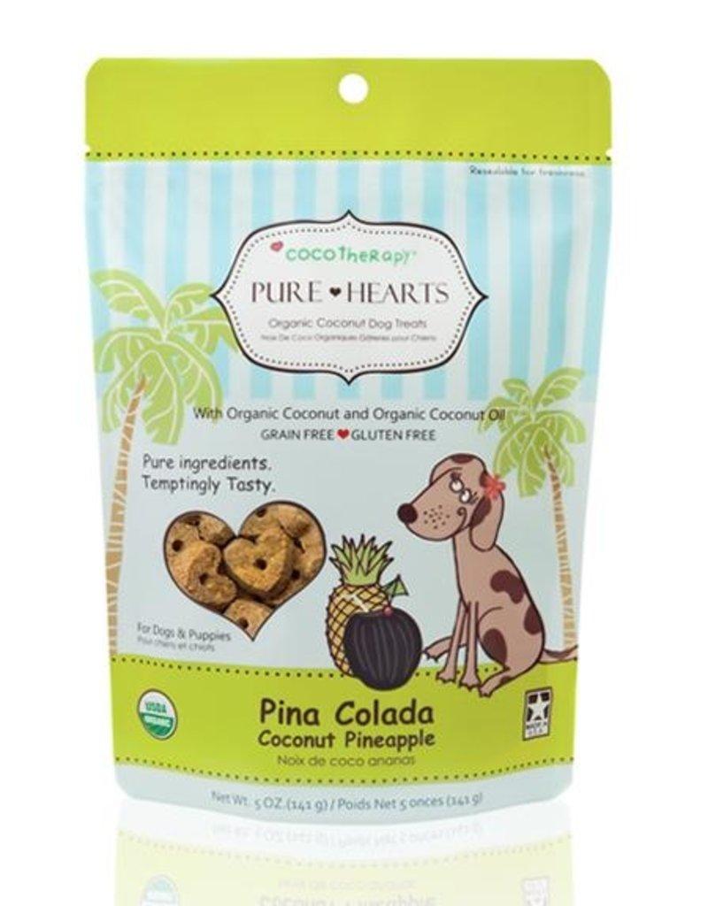 CocoTherapy CocoTherapy Pure Hearts Coconut Cookies Pina Colada Dog Treats 5oz
