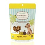 CocoTherapy CocoTherapy Pure Hearts Coconut Cookies Banana Brulée Dog Treats 5oz
