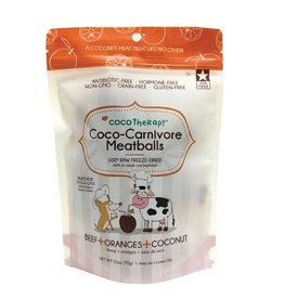 CocoTherapy CocoTherapy Coco-Carnivore Meatballs Beef, Orange, and Coconut Dog and Cat Treats 2.5oz