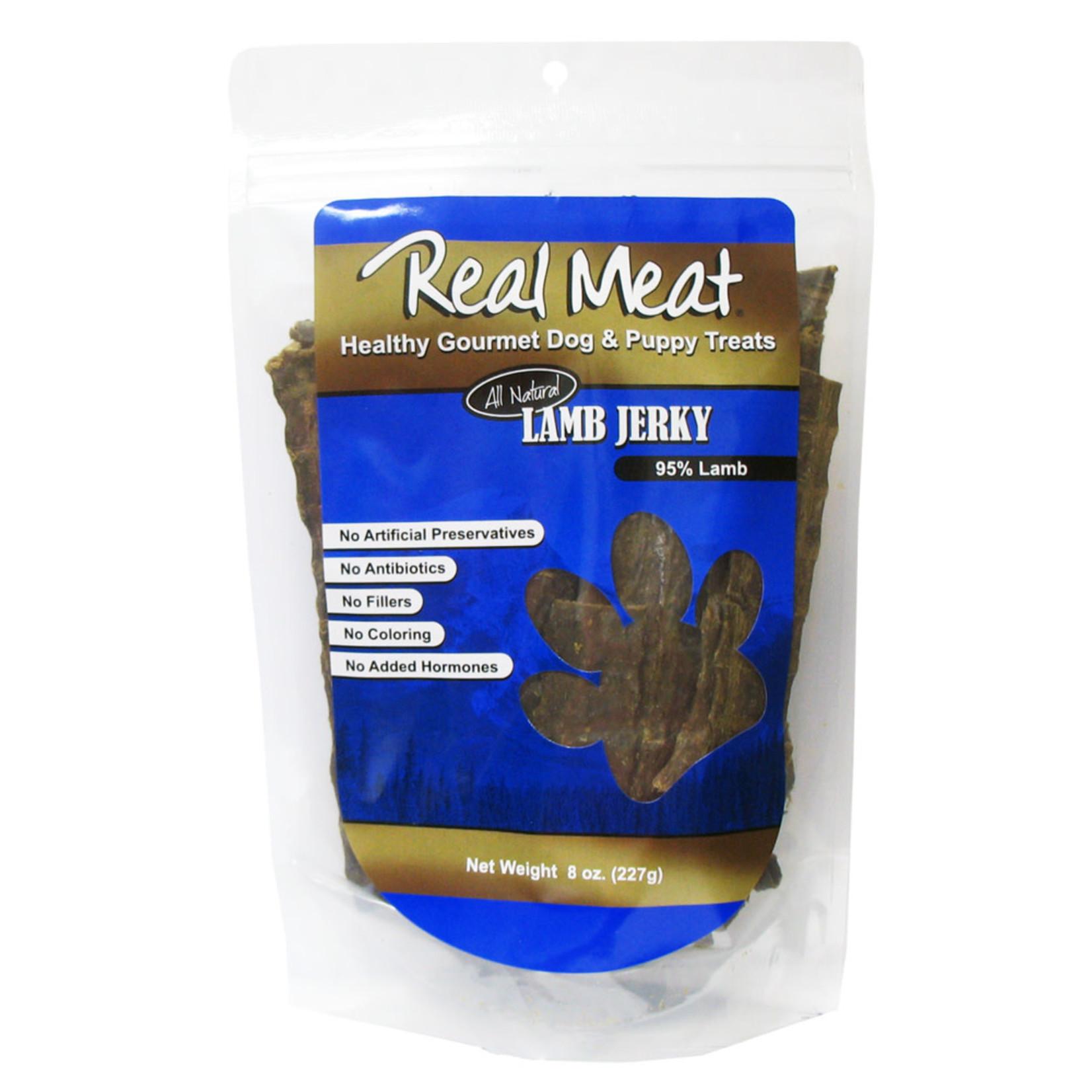 Real Meat Real Meat Lamb Jerky Strips Dog Treats 8oz