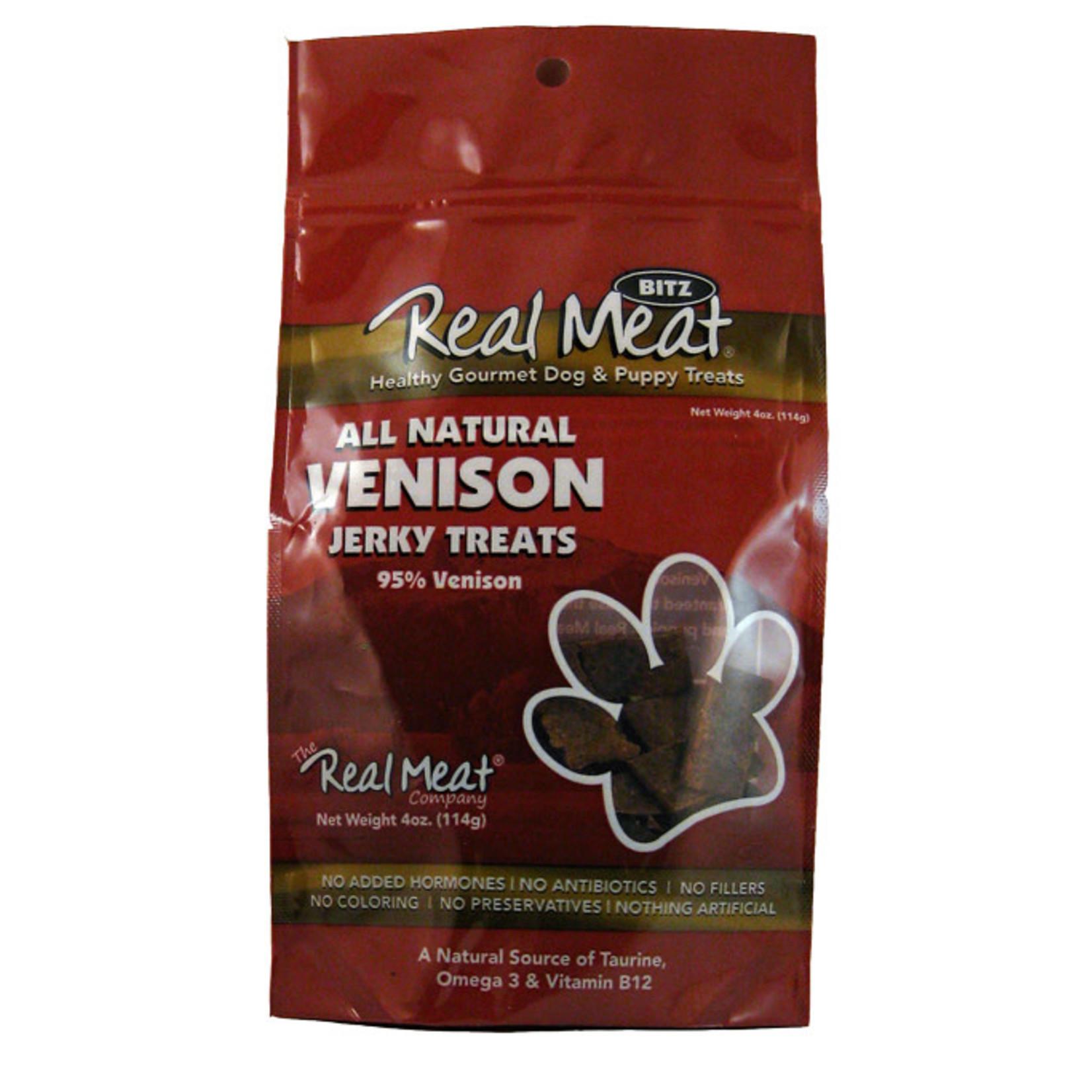 Real Meat Real Meat Venison Jerky Dog Treats 4oz