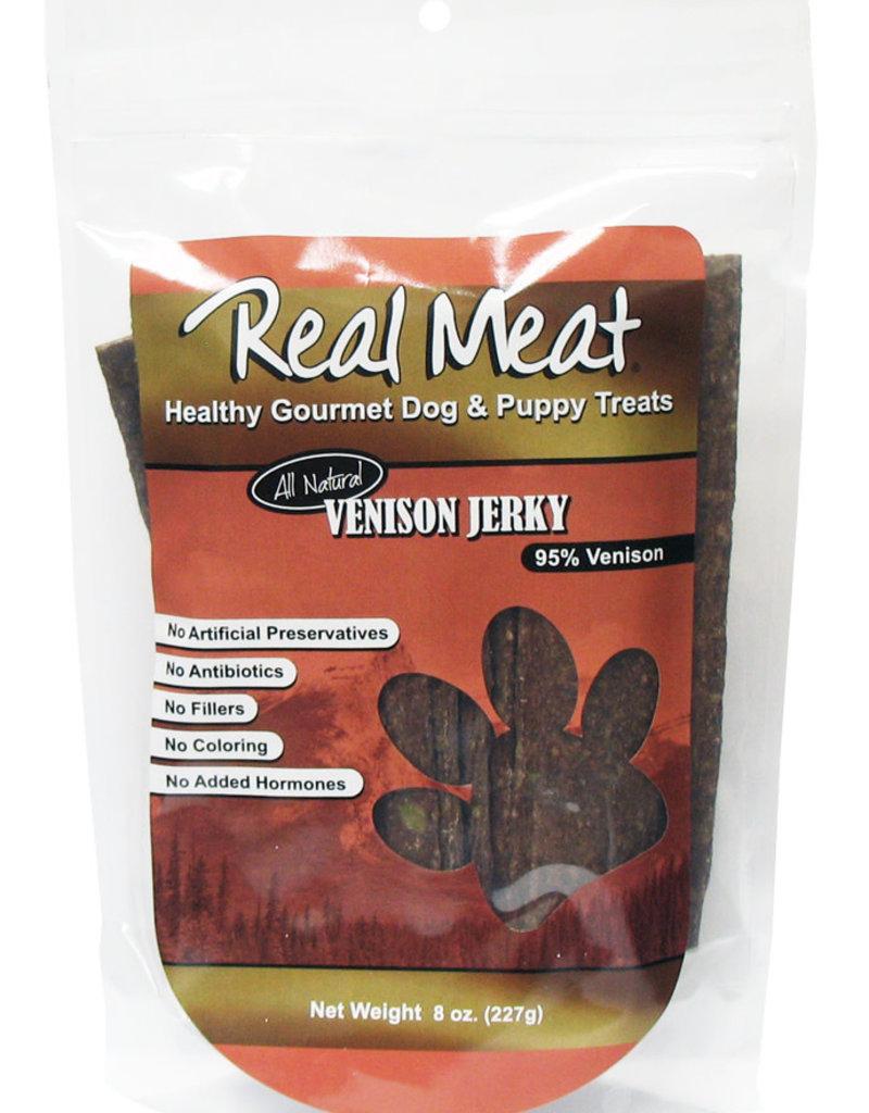 Real Meat Real Meat Venison Jerky Strips Dog Treats 8oz