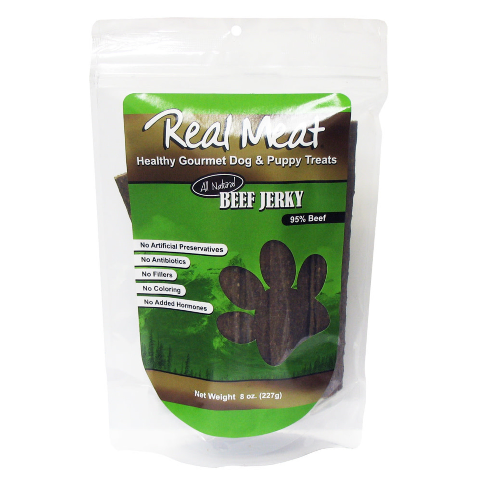 Real Meat Real Meat Beef Jerky Strips Dog Treats 8oz