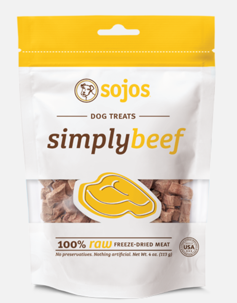 Sojos SOJOS Simply Beef Dog Treats 4oz