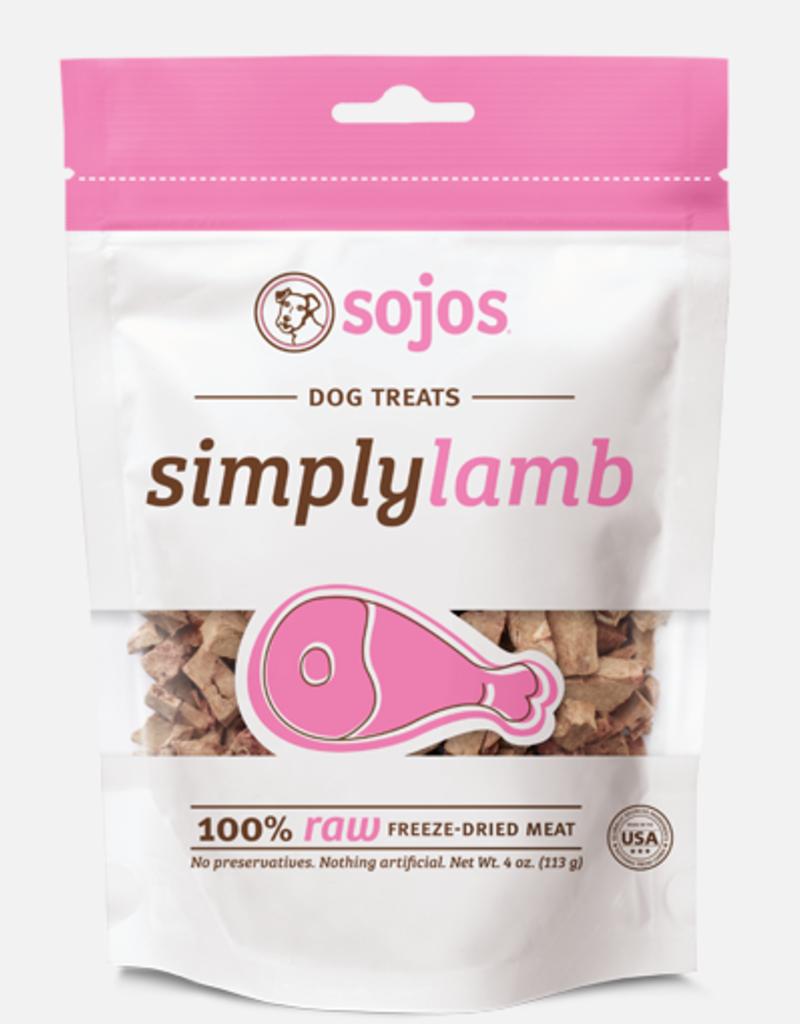 Sojos SOJOS Simply Lamb Dog Treats 4oz