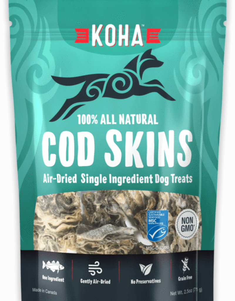 Koha KOHA Air-Dried Cod Skins Dog Treats 2.5oz