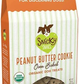 Snicky Snaks SNICKY SNAKS Peanut Butter Cookie Dog Treats 10oz