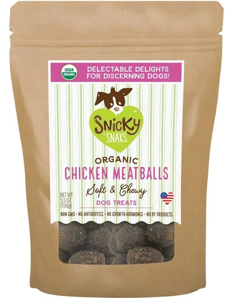 Snicky Snaks SNICKY SNAKS Organic Chicken Meatballs Dog Treats 5.5oz