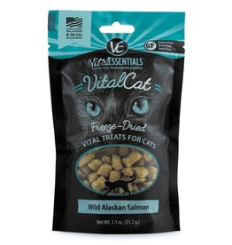 Vital Essentials Vital Essentials Freeze Dried Wild Alaskan Salmon Cat Treats 1.1oz
