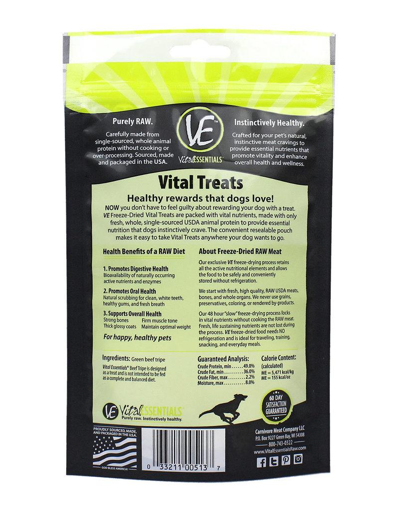 Vital Essentials Vital Essentials Freeze Dried Beef Tripe Dog Treats 2.3oz