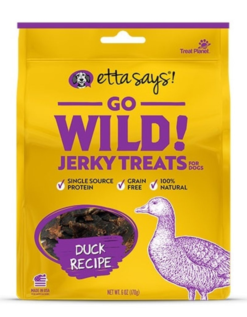 Etta Says Etta Says! Go Wild Duck Dog Jerky Treats 5oz